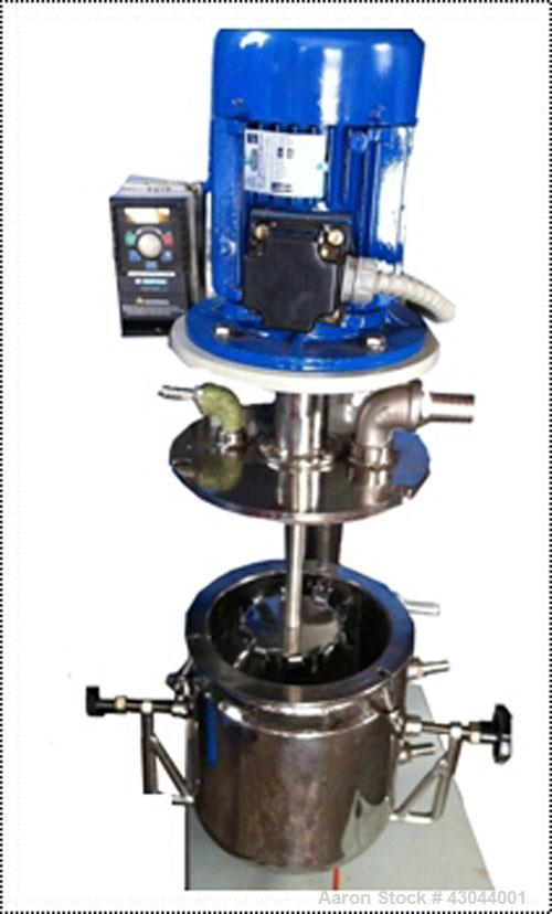 Used-Chemisolutions Laboratory High Shear Mixer. Vacuum/pressure rated, Cowles type blade, 1 hp, 0.75 kW, single phase 220V,...