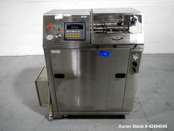 Used- Stainless Steel B.E.E. Inernational Homogenizer, model DEBEE 2000