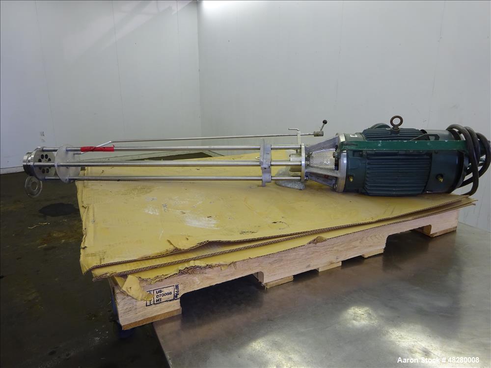 Used- Greerco High Shear Homogenizer/Emulsifier, Model 1-1/2 HH, 316 Stainless S