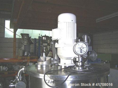 Used-Koruma Disho V 160/330 Cream Manufacturing Plant, stainless steel, batch size 74 gallons (280 liters), not jacketed. 50...