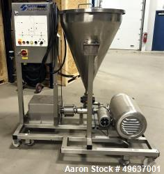 Used- Silverson Flashblend Powder/ Liquid Mixer, Model FLB 30. Stainless steel, HP Motor. Approximately 17.5 HP motor. Rated...