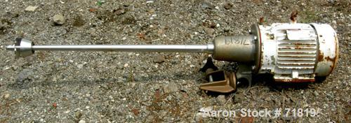 """USED- Clamp-on Dissolver, 316 Stainless Steel. 1-1/2"""" diameter x 36"""" long tapered shaft with a 4"""" diameter sawtooth blade. D..."""