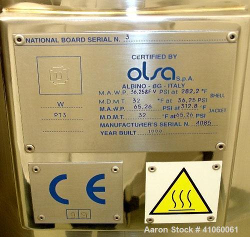 Used- Ross/Olsa Vacuum Mixer Homogenizer, Model MACEF PH 150. 30 to 150 liter working capacity, 190 total, 316L stainless st...