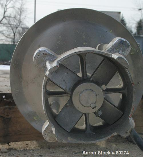 """USED: Homo mixer, approximately 10 hp, stainless steel contact area. 5"""" diameter mixing head x 38"""" long."""
