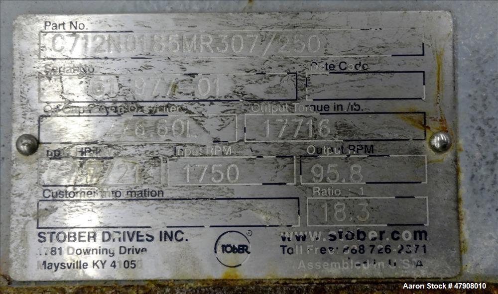Used- Pentax In-line Homogenizing Type Mixer, Model KMF200/V, 316 Stainless Stee