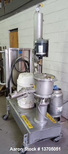 Used- Quadro Ytron Model Z-5 Inline Mixer/ Emulsifier. 3- stage, sanitary, 316 SS Quadro Ytron Model Z-5 Inline Mixer/ Emuls...