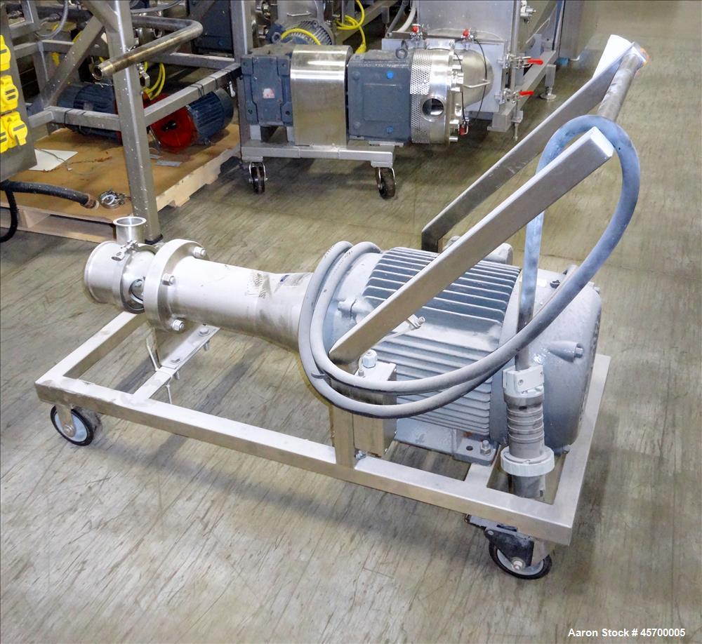 "Used-Scott Turbon Stainless Steel Mixer, Model PILS3-50, S/N: 4976, 6"" (diameter) blade"