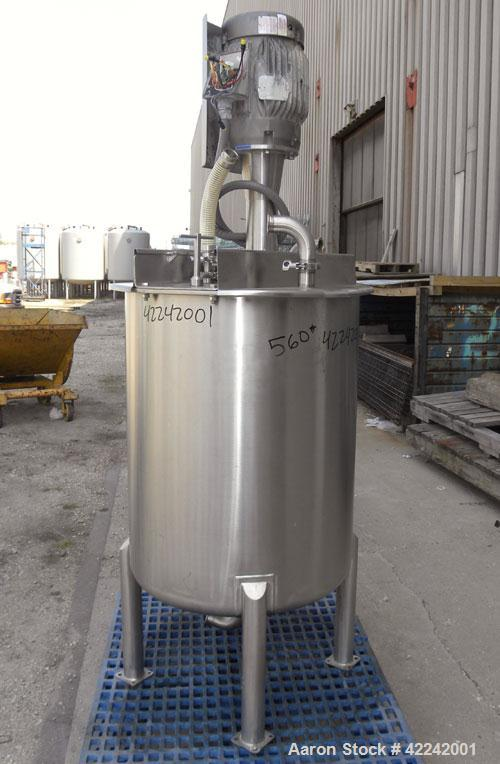 "Used- Scott Turbon Top Mounted Mixer, Model TMS3B-10. Approximately 1-1/2'' diameter 17-4 PH stainless steel shaft with a ""B..."