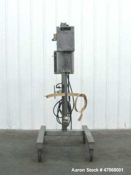Used- Scott Turbon Portable Liquid Mixer, Model PMS3 4 - B - 1.5 x 36 ESC. 46 long x 37 wide x 94 high. 250 Volt / 3 ph at 3...