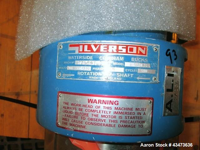 Used- Silverson In Line Mixer, Model 275.LS, Serial# B741.