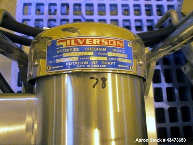 Used- Silverson Inline Mixer, Model 275LS, Serial# 275LSB834.