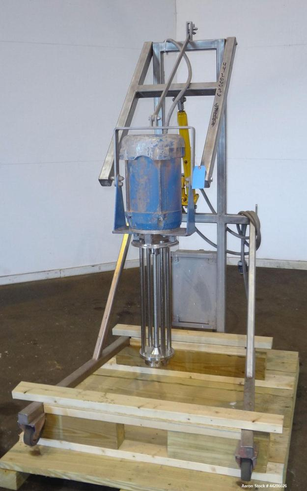 Used- Silverson Batch Mixer Emulsifier, Model FX60, 316 Stainless Steel. Speed range 3600 rpm, batch range 40 to 320 gallon,...