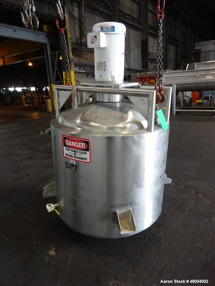 Used- Precision Stainless Kettle, Approximately 200 Gallon, 304 Stainless Steel,