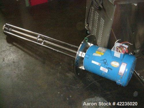 Used- Silverson Batch Mixer Emulsifier, Model FX60, Stainless Steel. Speed range 3600 rpm, batch range 40 to 320 gallon, app...