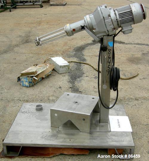 Used: Stianless Steel Stober Homomixer, Model R45-0000-130-2