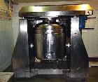 Used- DF S.r.l Homogenizing Mixer, Model F500L. Vertical, cylindrical, tilted with collar, bottom of vessel is rounded. Jack...