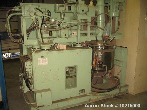 Used-TK AGI homo mixer, model 30-50, manufactured 1988. Homo mixer 2000-4000 rpm, paddle 0-240 rpm, turbine 0-360 rpm.