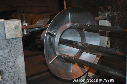 "USED:Tokushu Kika Kogyo Co Homo Jettor Mixer, model T, stainlesssteel. Approx 4"" diameter 4 blade rotor x 40"" long shaft. Dr..."