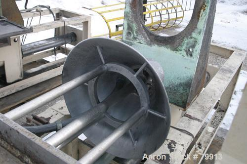 "USED:Tokushu Kika Kogyo Co Homo Jettor Mixer, model T, stainlesssteel. Approx 4"" diameter 4 blade rotor x 40"" long shaft. Dr..."