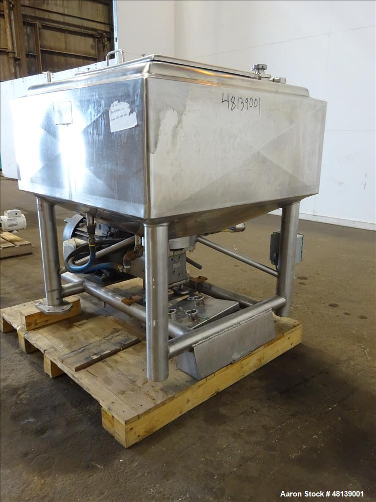 Used- APV Crepaco Liquifier, Approximately 200 Gallon, 304 Stainless steel.