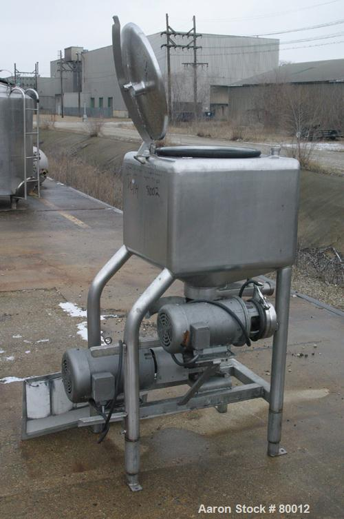 "USED: APV 50 gallon vertical rectangular liquifier, 304 stainless steel. 26"" wide x 26"" wide x 18"" straight side. 316 stainl..."