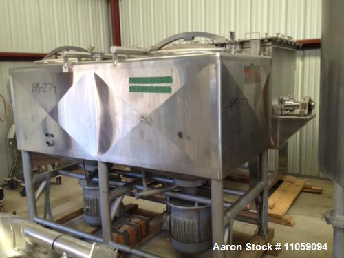 "Used- Breddo LDT-600 Likwifier, 600 gallon, stainless steel construction, two (2) 40 hp drive motors, 2.5"" outlets."