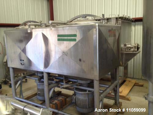 "Used- Breddo 600 Gallon Dual Tank Likwifier/Liquefier, Model LDT-600. (2) 40 HP, 1765 rpm, 220/480 volt motors. 2.5"" outlets..."
