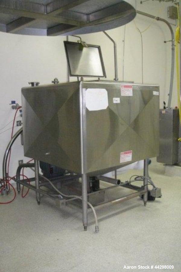 Used- Stainless Steel Breddo Likwifier, Model LSWW-300, 300 gallon capacity, jacketed bowl