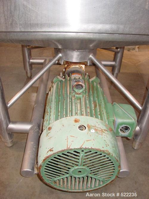 """USED: Breddo style Likwifier. Square shaped jacketed 25 hp high shear,39"""" ID x 44"""" OD x 20"""" straight wall, hinged lid. Natio..."""