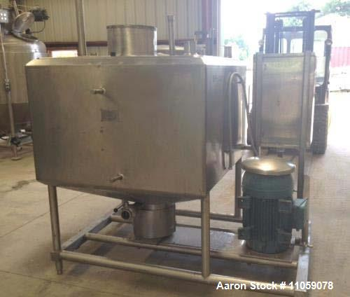 Used- Cherry-Burrell 300 Gallon Jacketed Liquifier. Jacket rated 100 PSI at 300 Deg.F.  40 HP, 1770 RPM, 208-230/460 volt WE...