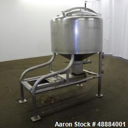 Used- Breddo Likwifier, 100 gallon, Model LOR, 304 Stainless Steel.