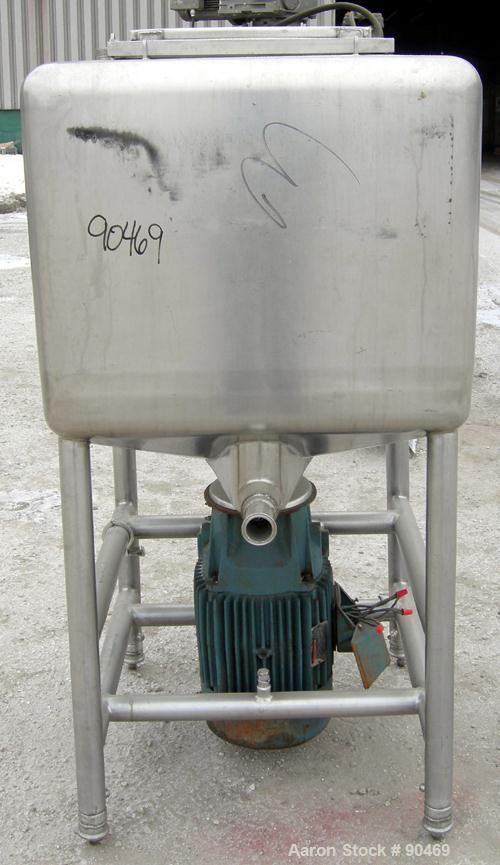"USED- Norman Machinery Co Likwifier, Model DH-100, 100 Gallon Capacity, 304 Stainless Steel. Non-jacketed chamber 32"" wide x..."