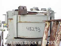 """USED: Eirich mixer DEV29/6. Counter current, batch type, carbon steel.210 cu ft max, chamber 114"""" dia x 53"""" high. Wear plate..."""