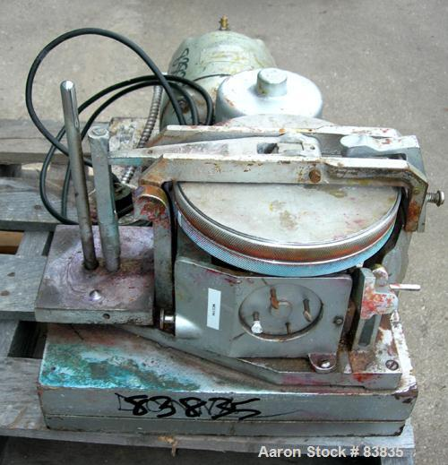 "USED: Hoover automatic muller, model 4B. Unit consists of (2) 7-1/2"" diameter glass plates, one of which rotates at a consta..."
