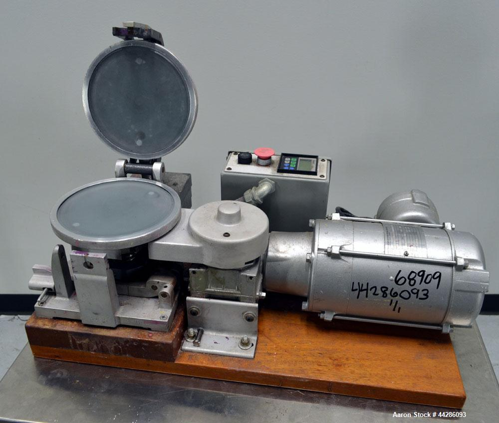 "Used- Hoover Color Corp. Automatic Muller, Model M5. Unit consists of (2) 7-1/2"" Diameter glass plates, one of which rotates..."