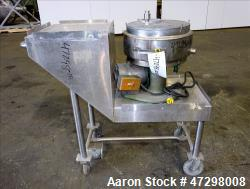 Used- Cincinnati Lab Mix Muller, 304 Stainless Steel.