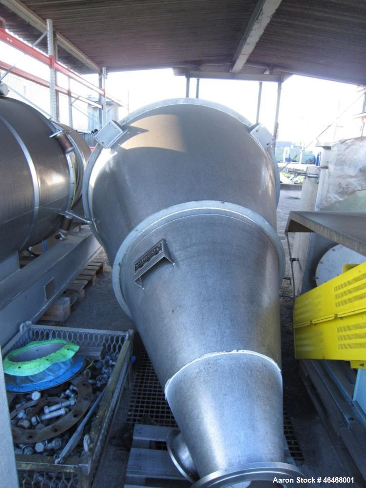 Used-Hosokawa Vrieco Nauta type mixer, type 15 VB-2. Material of construction is stainless steel, 52.9 cu ft. (1500 liter) c...
