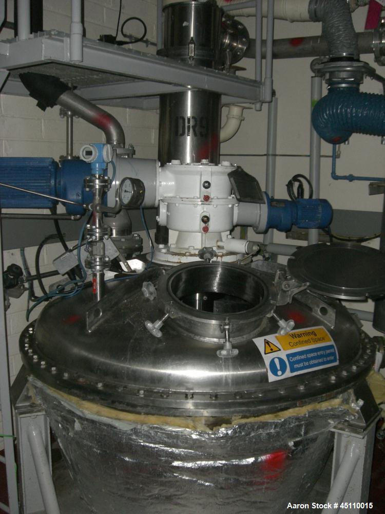 Used- Hosokawa (Nauta) approximately 750 litre capacity stainless steel mixer dr