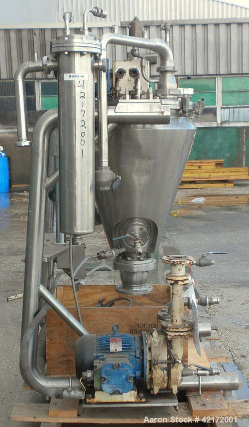 "Used- Alfred Bolz Mixer, Type MF 003 VIDP, approximately 3.88 cubic feet (110 lter) capacity, 316 stainless steel. 25"" diame..."