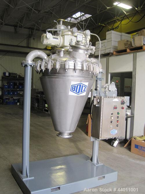 Used-Bolz-Summix Conical Vacuum Dryer, 175L, Model DF-17.5-VDO