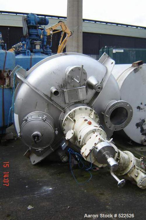 USED: Bolz mixer. Material of construction is polished stainlesssteel on product contact parts. Total capacity 109.5 cu ft/8...