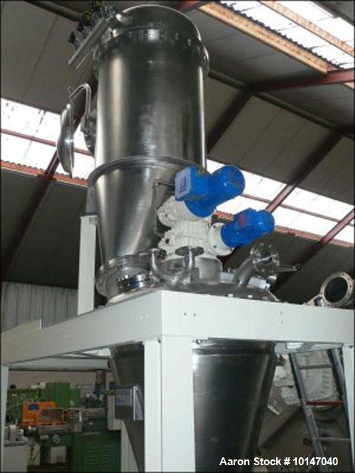 Used- Stainless Steel Hosokawa Micron Europe 3-VDC-02 Conical Dryer