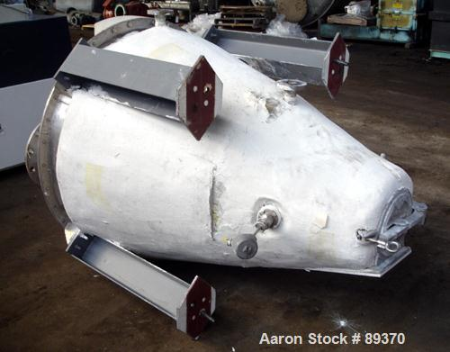 Used- Hosokawa Micron Nauta Mixer, Model 3VV-2. 10.5 Cubic Feet Working Capacity, Stainless Steel. 300 Liter capacity, indep...