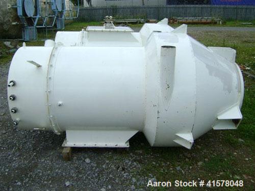 Used- Stainless Steel Hosokawa Micron Conical Nauta Mixer, approximately 212 cub