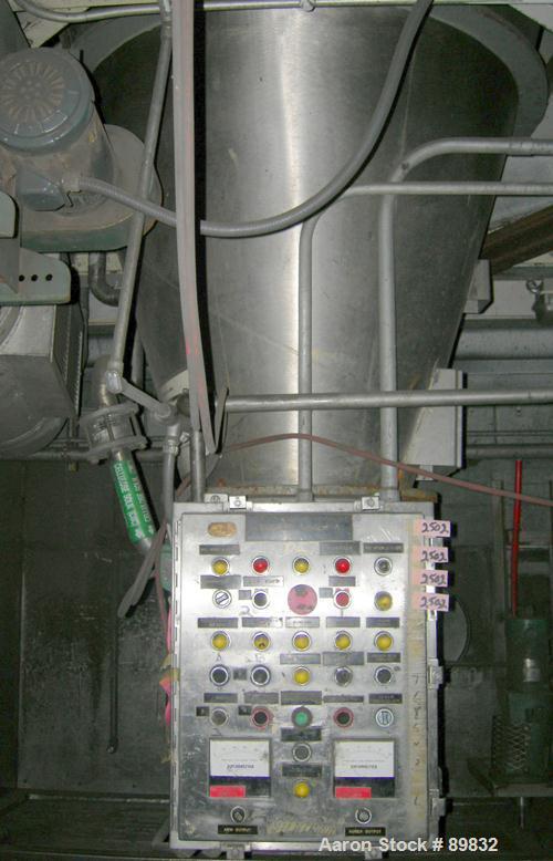 "USED: J H Day nauta mixer, FA-35 Mark II, 35 cubic feet working capacity, 304 stainless steel. 69-3/8"" OD x 87"" straight sid..."