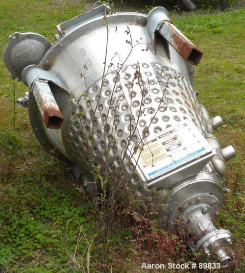 "Used- J H Day Nauta Mixer, 3.3 Cubic Feet working capacity, Mark II 3.5, 304 stainless steel. 39-7/8"" diameter x 42-1/2"" str..."