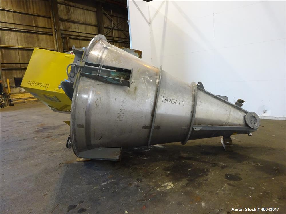 Used- J.H. Day Mark II Nauta Mixer, Approximate 115 Cubic Feet Working Capacity,