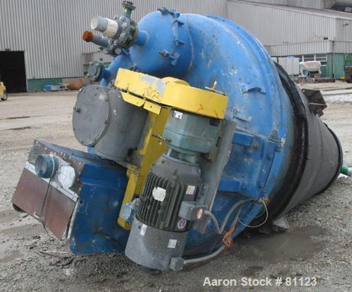 """USED: J H Day Nauta Mixer, model MB525. 52.5 cubic foot working capacity, carbon steel. Approximate 76-3/4"""" diameter x 102"""" ..."""