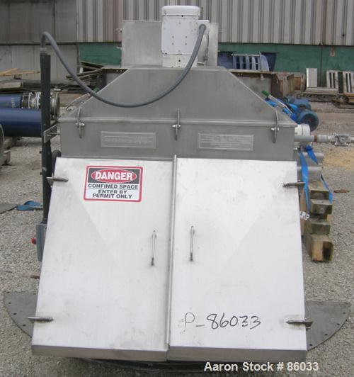 """USED: J H Day Nauta mixer, 70 cubic foot working capacity, 304 stainless steel. Approximately 83"""" diameter x 115"""" straight s..."""