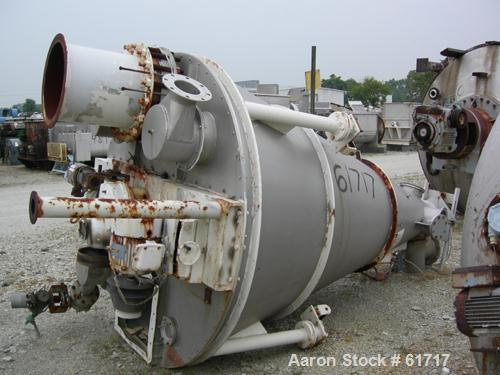 "Used- J.H. Day Nauta Mixer, Type MBX, 70 Cubic Feet, 304 Stainless Steel. 83"" Diameter x 122"" long. Flat bolted top, pintle ..."